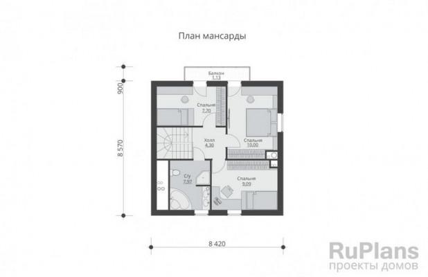 Дом 8,57 x 8,42